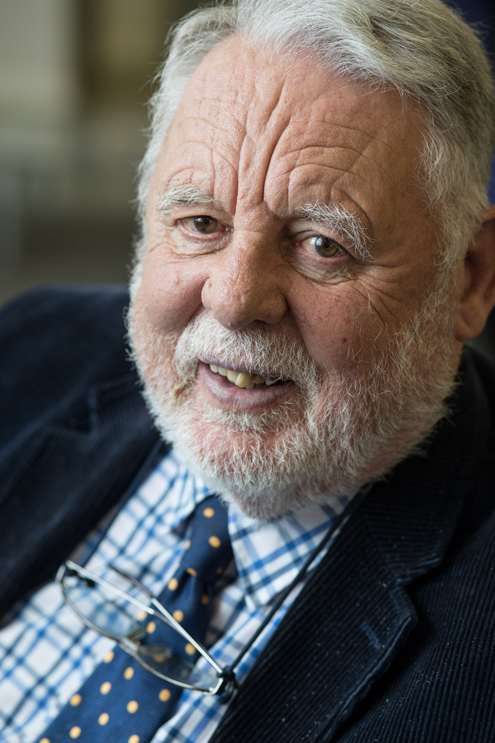 This is a portrait photograph of Terry Waite, UK hostage negotiator to the Middle East